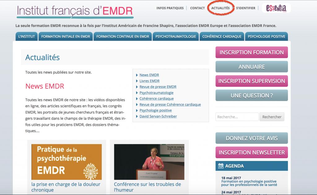 Comment trouver un article sur le site ifemdr ?